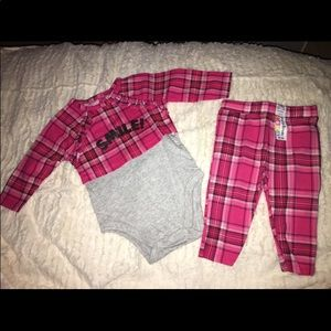 Plaid onesie set